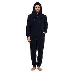 Mantaray - Navy fleece onesie