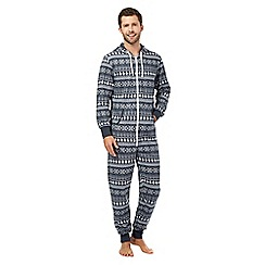 Mantaray - Navy Fair Isle onesie