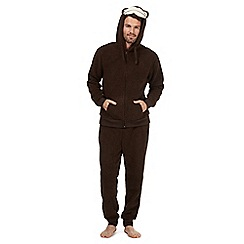 Mantaray - Brown monkey fleece twosie set