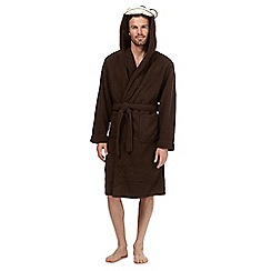 Mantaray - Dark brown monkey dressing gown