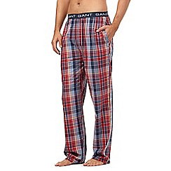 Gant - Red checked lounge bottoms