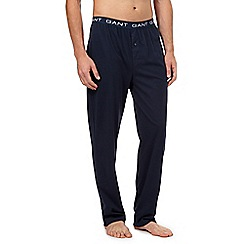 Gant - Navy logo jersey bottoms