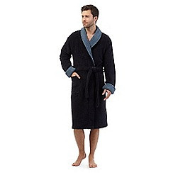 RJR.John Rocha - Navy contrast towel dressing gown