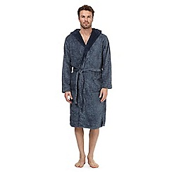 RJR.John Rocha - Navy sherpa dressing gown