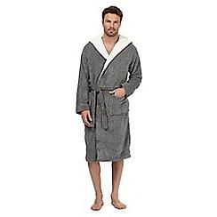 RJR.John Rocha - Grey sherpa dressing gown