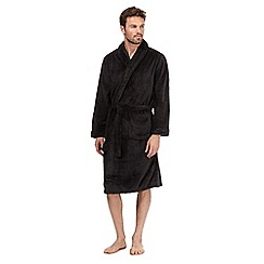 RJR.John Rocha - Dark grey fleece dressing gown