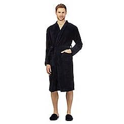 J by Jasper Conran - Navy dressing gown and slippers in a gift box