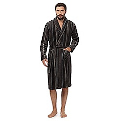 RJR.John Rocha - Grey stripe dressing gown