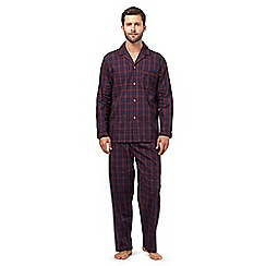 Maine New England - Dark red tartan checked pyjama set