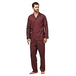 Maine New England - Dark red birdseye print pyjamas