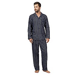 Maine New England - Navy striped long sleeved pyjama set
