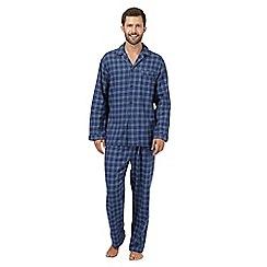 Maine New England - Blue checked long sleeved pyjama set