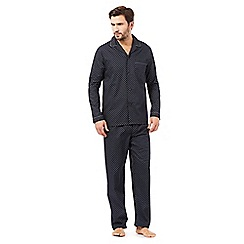 J by Jasper Conran - Designer navy geometric cotton pyjama set