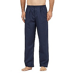 Maine New England - Big and tall pack of two navy cotton checked pyjama bottoms