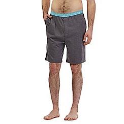 Red Herring - Dark grey brand jersey lounge shorts