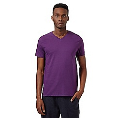 Red Herring - Purple V neck t-shirt