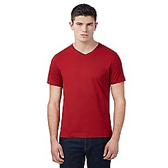 Red Herring - Red V neck t-shirt