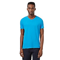 Red Herring - Bright blue V neck t-shirt