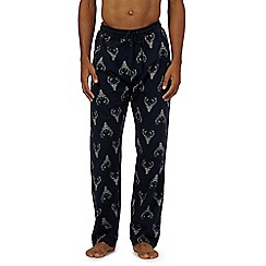 Red Herring - Navy stag pyjama bottoms