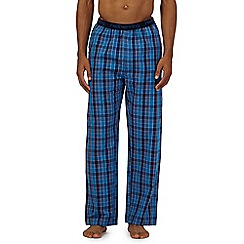 Red Herring - Blue small check pyjama bottoms