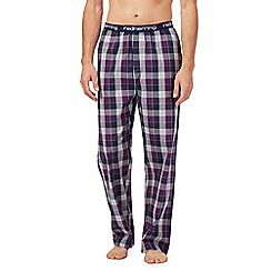 Red Herring - Purple check lounge bottoms