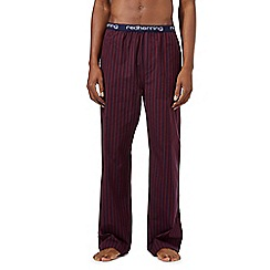Red Herring - Red woven striped pyjama bottoms