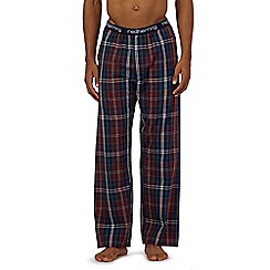 Red Herring - Dark red check pyjama bottoms