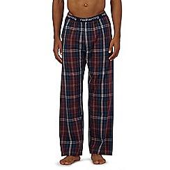 Red Herring - Dark red check pyjama bottoms
