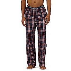 Red Herring - Navy check pyjama bottoms