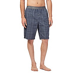 Calvin Klein - Navy grid lounge shorts