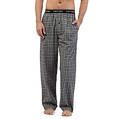 Calvin Klein - Grey checked lounge bottoms