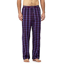 Calvin Klein - Purple checked pyjama bottoms
