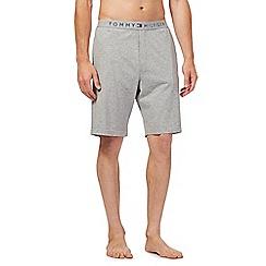 Tommy Hilfiger - Grey logo jersey shorts