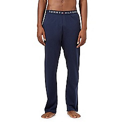 Tommy Hilfiger - Navy logo waistband pyjama bottoms