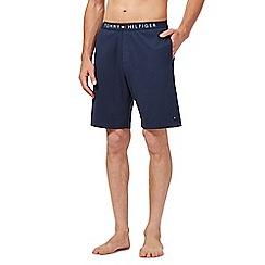 Tommy Hilfiger - Navy logo waistband pyjama shorts