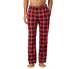 Tommy Hilfiger - Red checked pyjama bottoms