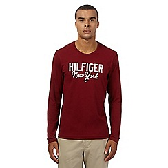 Tommy Hilfiger - Maroon long-sleeved t-shirt
