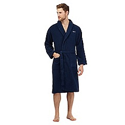 Gant - Navy towelling dressing gown
