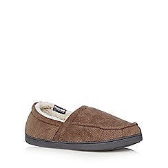 Maine New England - Beige 'Thinsulate' moccasin slippers