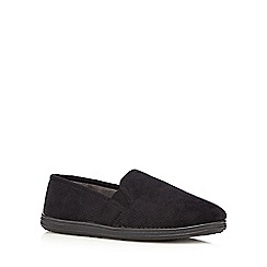 Maine New England - Black cord moccasin slippers