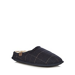 RJR.John Rocha - Navy checked mule slippers
