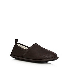 Mantaray - Dark brown distressed carpet slipper