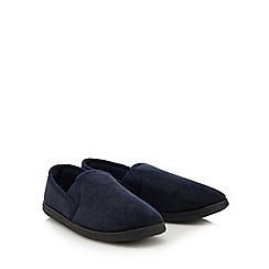 Maine New England - Blue men's slippers in a gift box