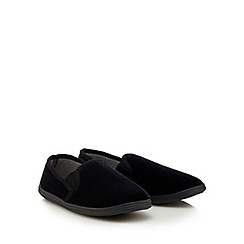 Maine New England - Black checked moccasin slippers in a gift box