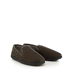 Maine New England - Khaki men's slippers in a gift box