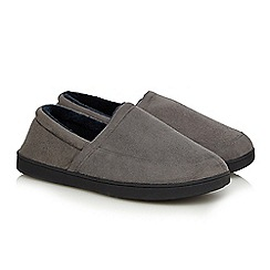 Maine New England - Khaki suedette men's slippers in a gift box