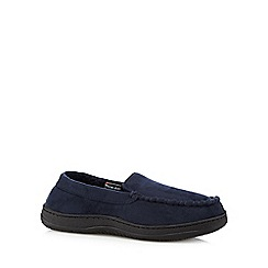 Maine New England - Navy 'Thinsulate' moccasin slippers