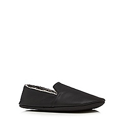 Maine New England - Black fur lined mules