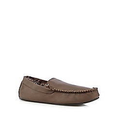 RJR.John Rocha - Brown faux fur lined moccasin slippers