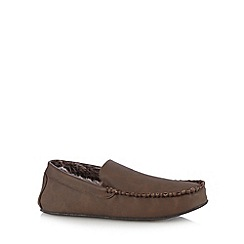 RJR.John Rocha - Brown moccasin slippers